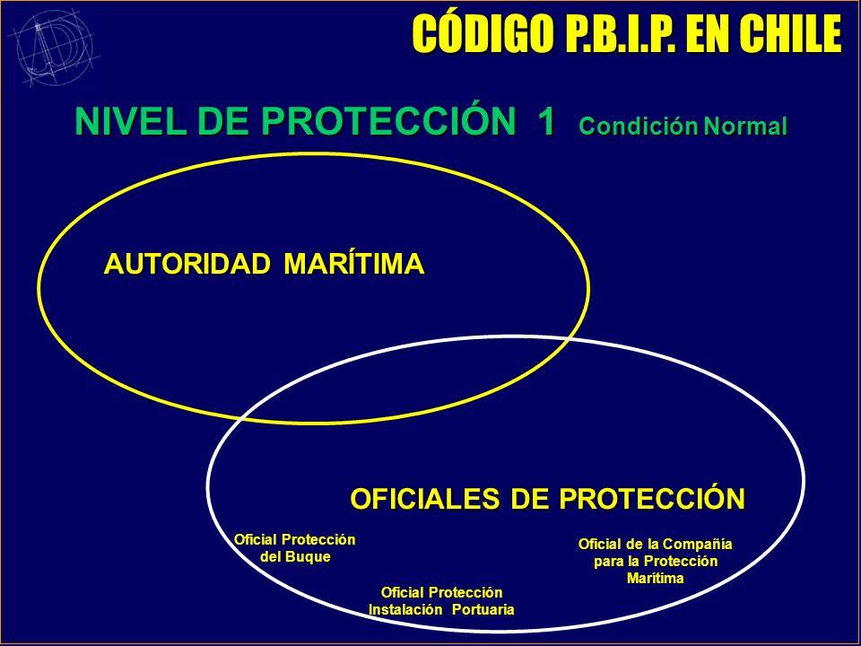 CÓDIGO P.B.I.P. EN CHILE NIVEL DE PROTECCIÓN 1 Condición Normal