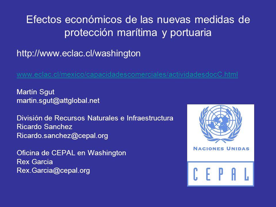 Efectos económicos de las nuevas medidas de protección marítima y portuaria