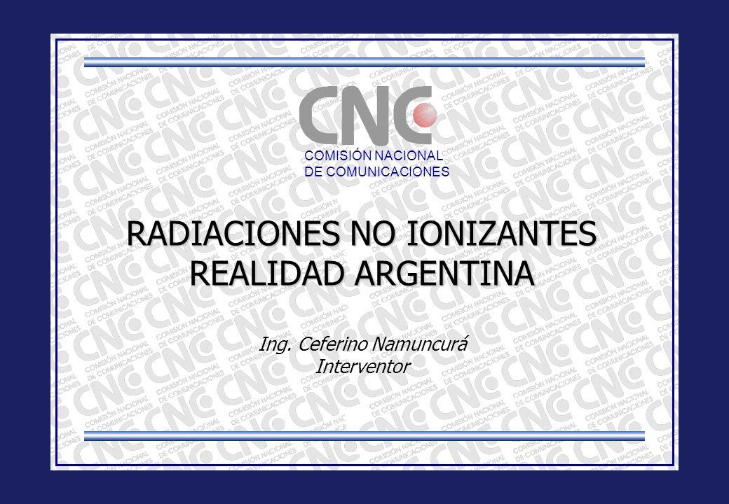 RADIACIONES NO IONIZANTES REALIDAD ARGENTINA