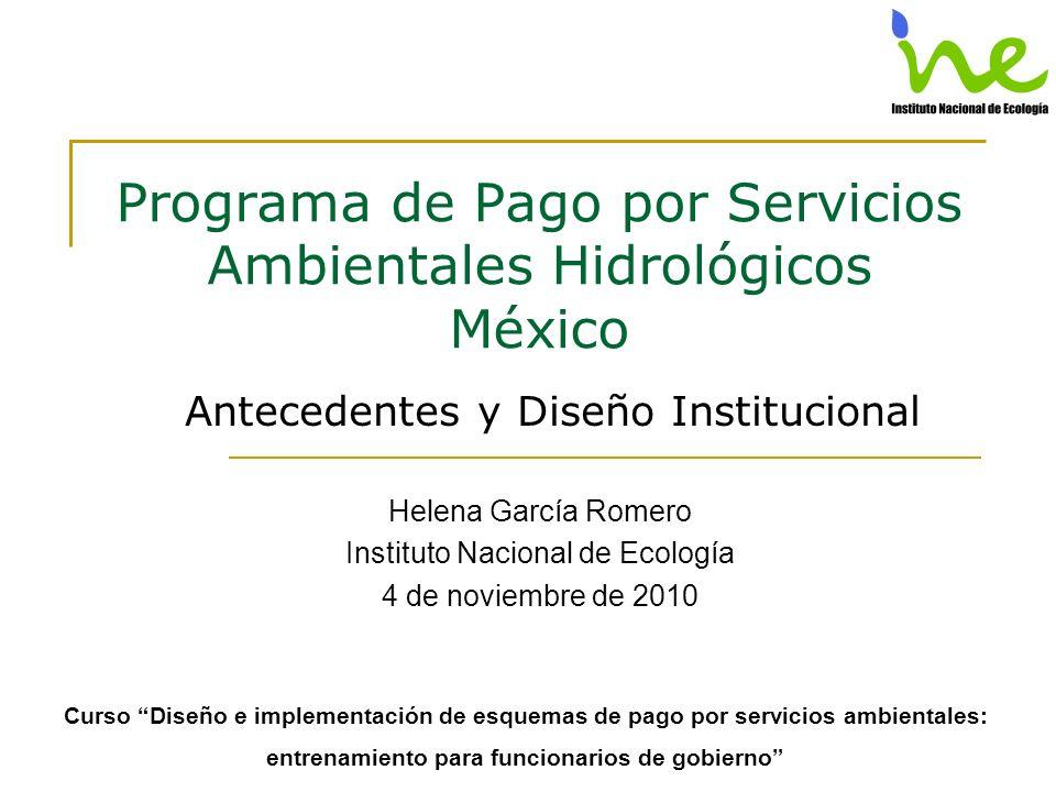 Programa de Pago por Servicios Ambientales Hidrológicos México