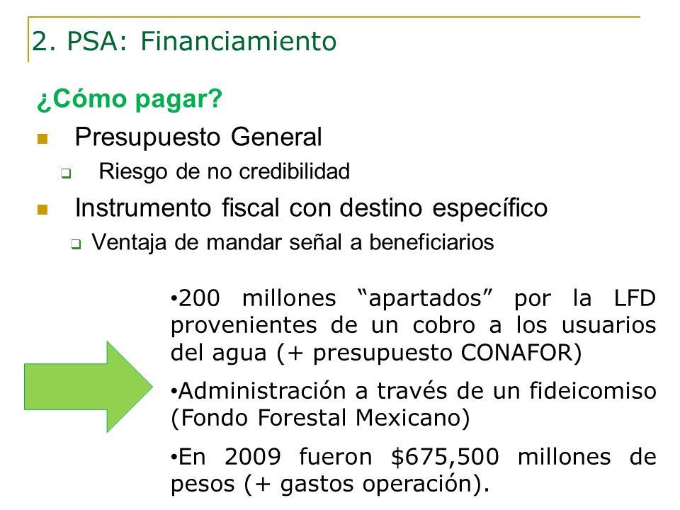 Instrumento fiscal con destino específico