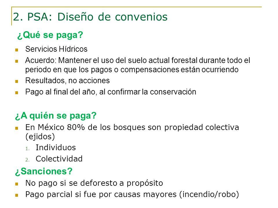 2. PSA: Diseño de convenios