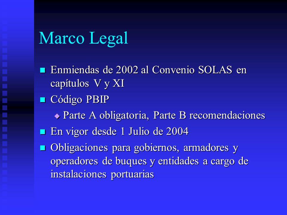 Marco Legal Enmiendas de 2002 al Convenio SOLAS en capítulos V y XI