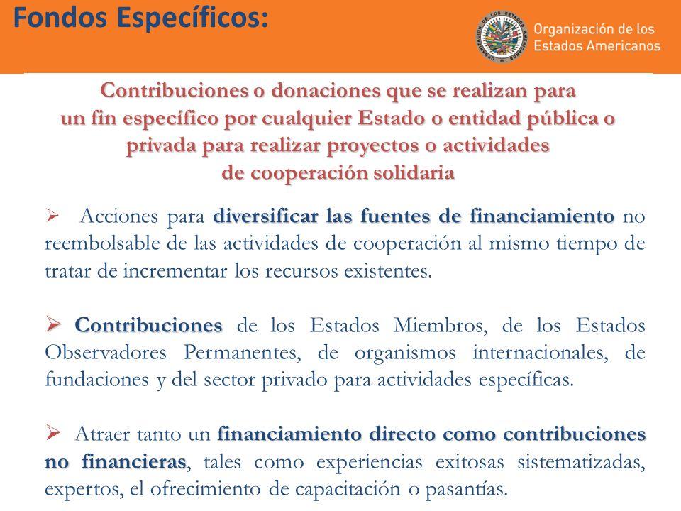 Fondos Específicos: