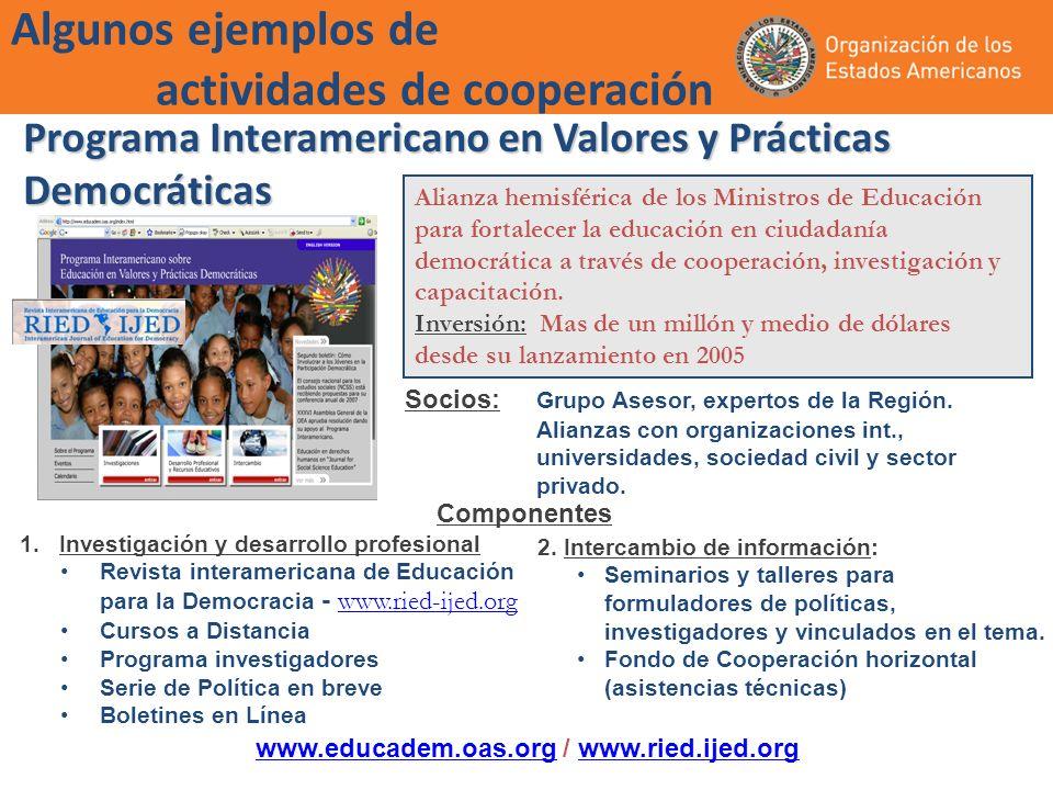Programa Interamericano en Valores y Prácticas Democráticas