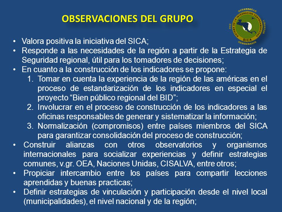 OBSERVACIONES DEL GRUPO