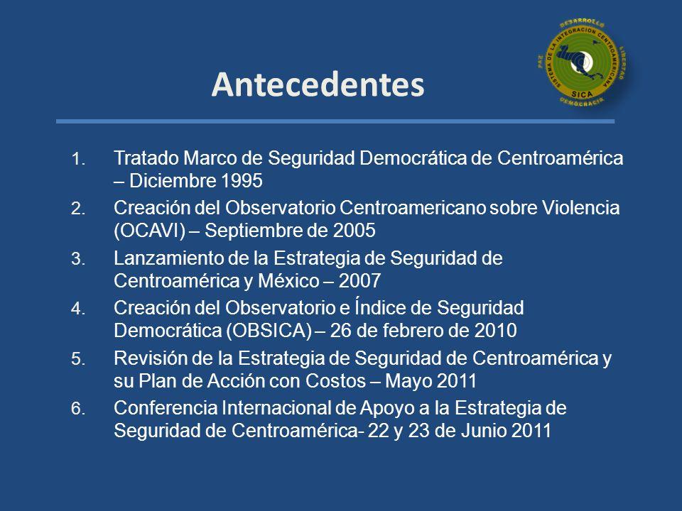 Antecedentes Tratado Marco de Seguridad Democrática de Centroamérica – Diciembre 1995.