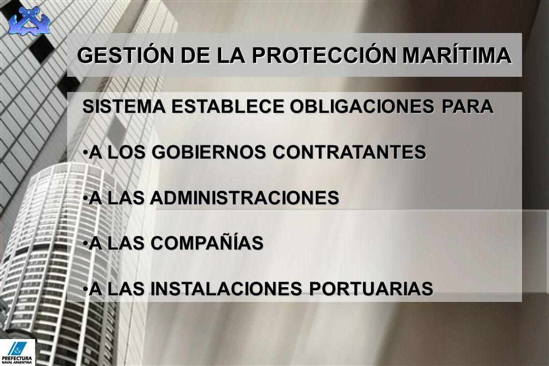 GESTIÓN DE LA PROTECCIÓN MARÍTIMA