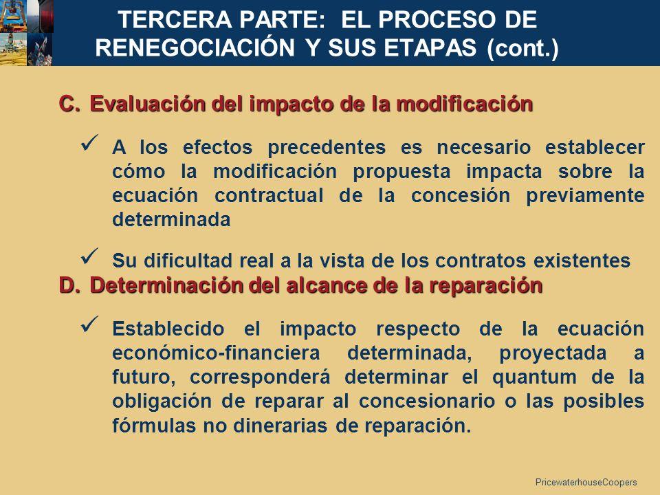TERCERA PARTE: EL PROCESO DE RENEGOCIACIÓN Y SUS ETAPAS (cont.)
