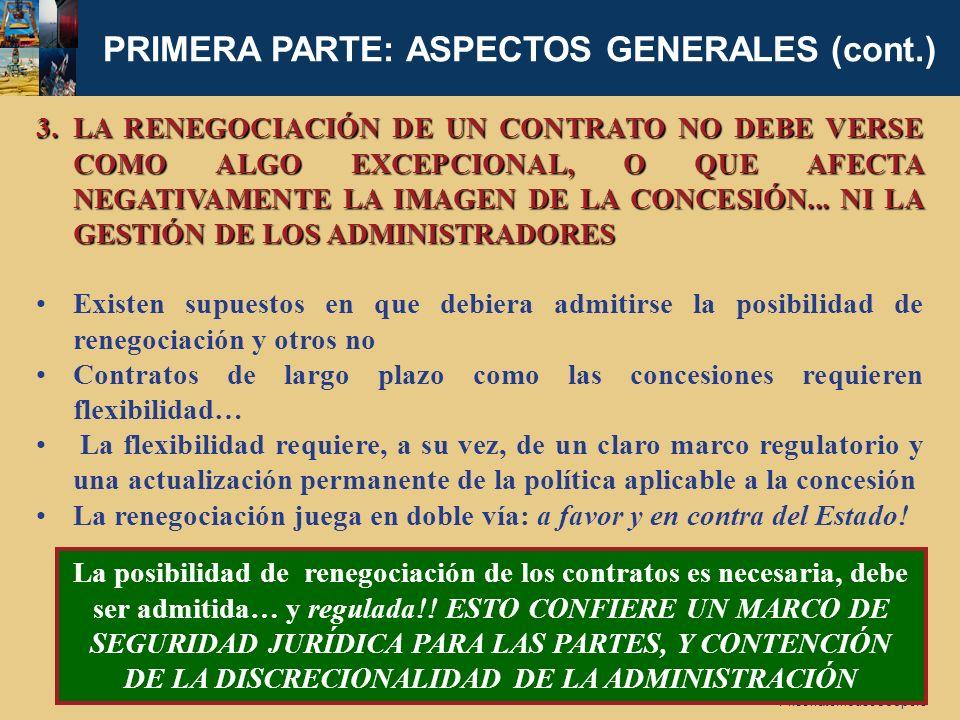 PRIMERA PARTE: ASPECTOS GENERALES (cont.)