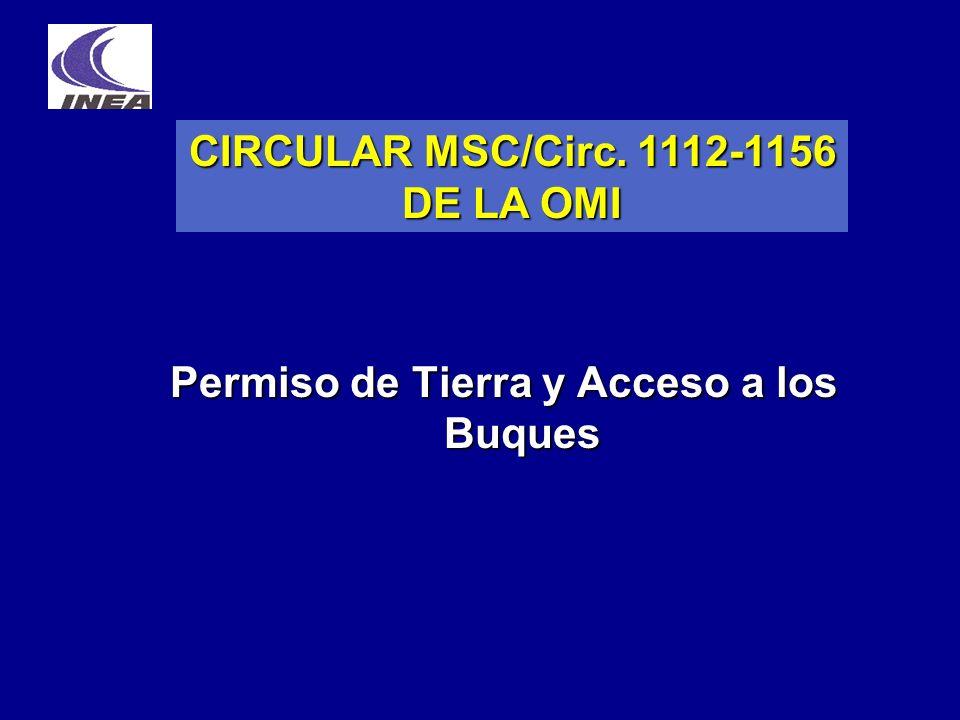 CIRCULAR MSC/Circ. 1112-1156 DE LA OMI