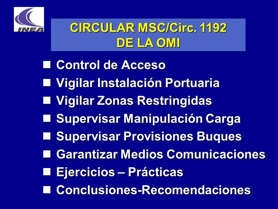 CIRCULAR MSC/Circ. 1192 DE LA OMI