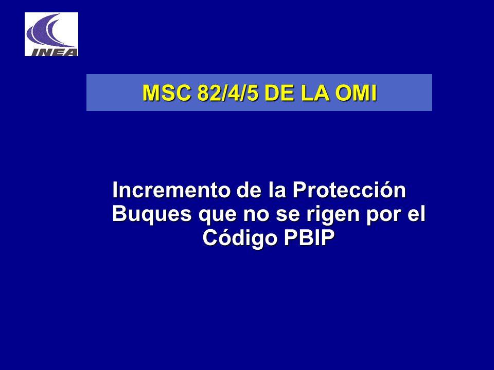 Incremento de la Protección Buques que no se rigen por el Código PBIP