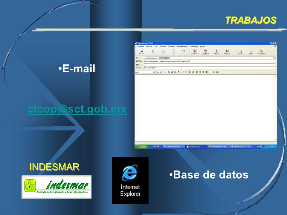 E-mail ctcop@sct.gob.mx