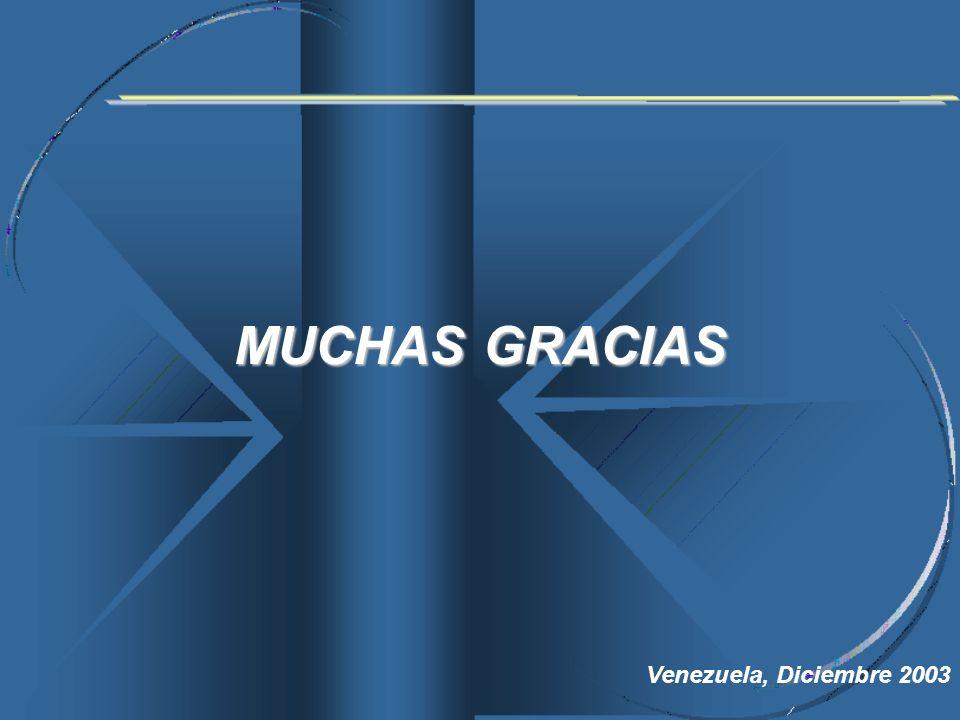 MUCHAS GRACIAS Venezuela, Diciembre 2003
