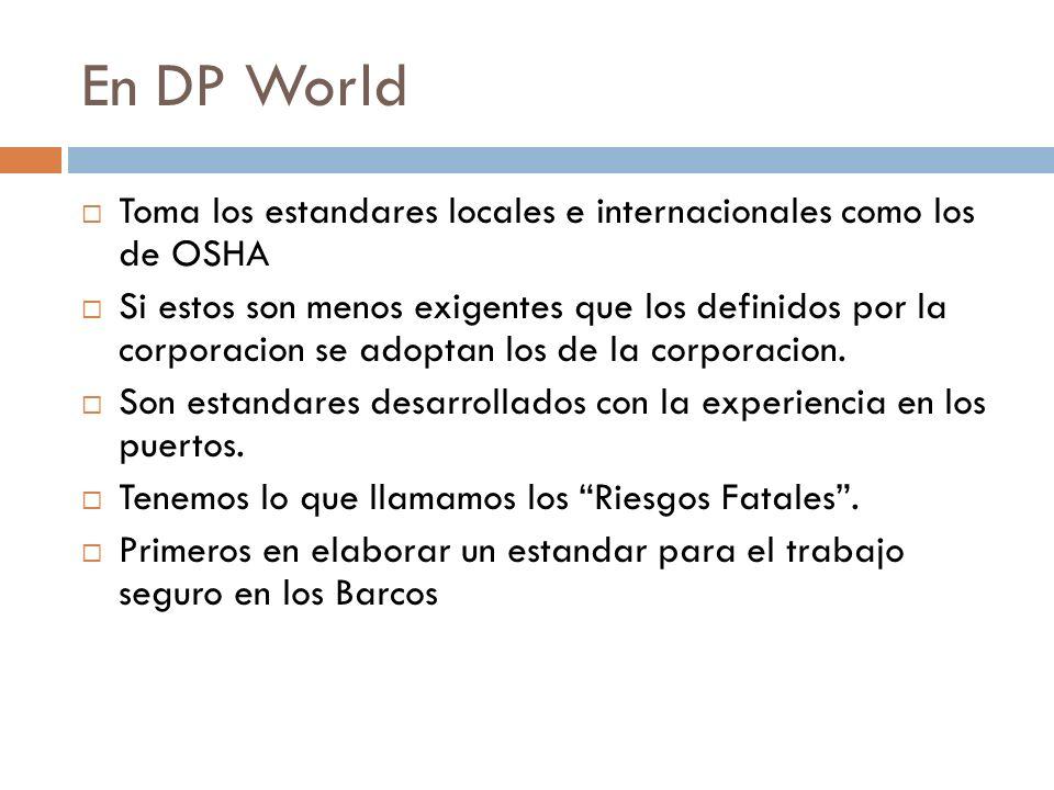 En DP World Toma los estandares locales e internacionales como los de OSHA.
