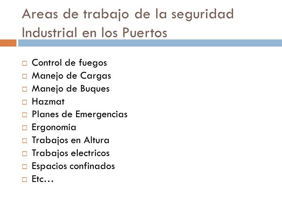 Areas de trabajo de la seguridad Industrial en los Puertos