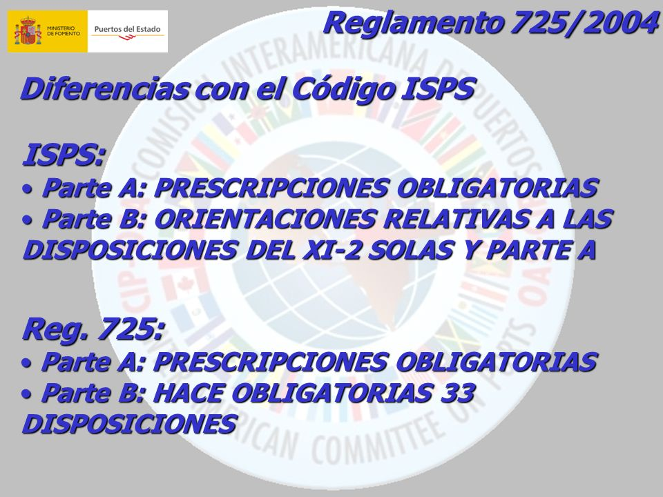 Diferencias con el Código ISPS