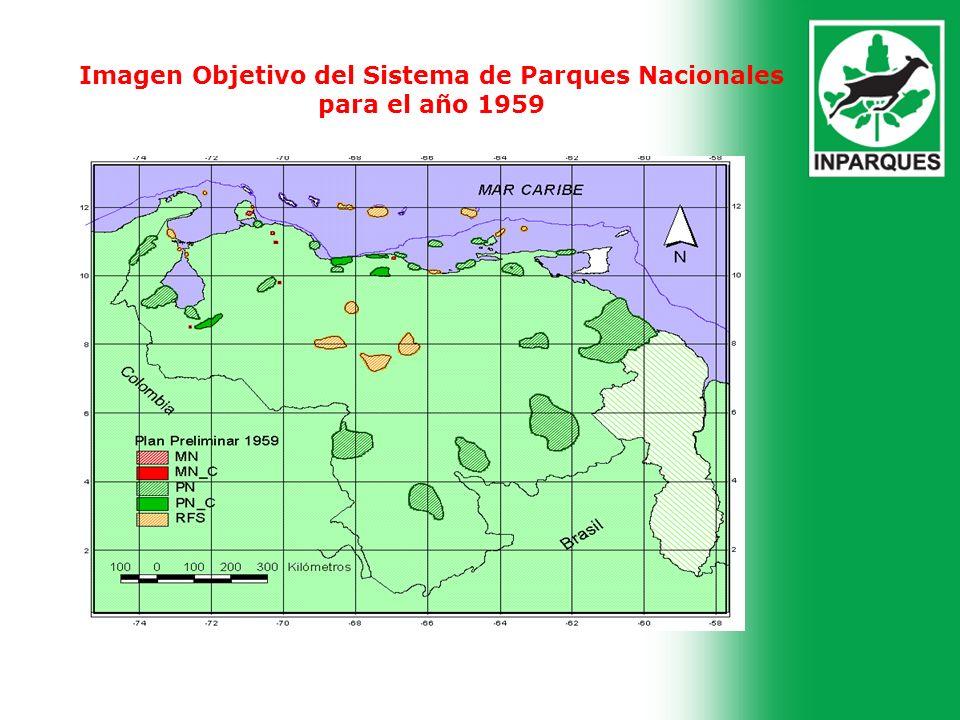 Imagen Objetivo del Sistema de Parques Nacionales para el año 1959