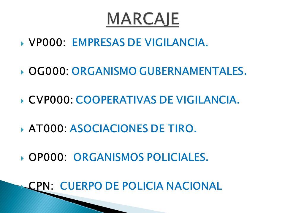 MARCAJE VP000: EMPRESAS DE VIGILANCIA.