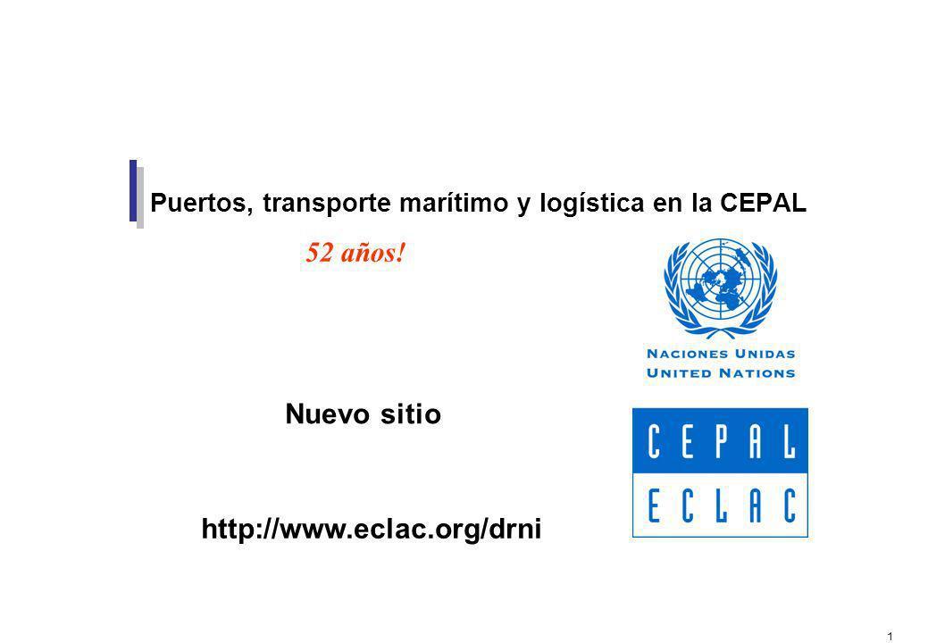 Puertos, transporte marítimo y logística en la CEPAL