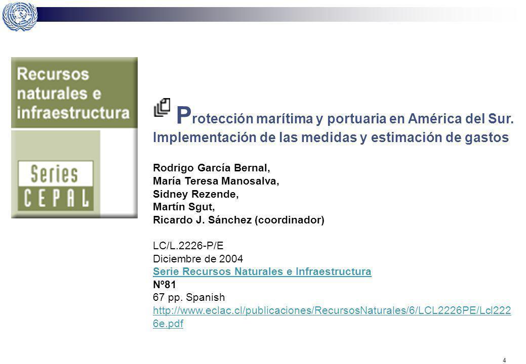 Protección marítima y portuaria en América del Sur