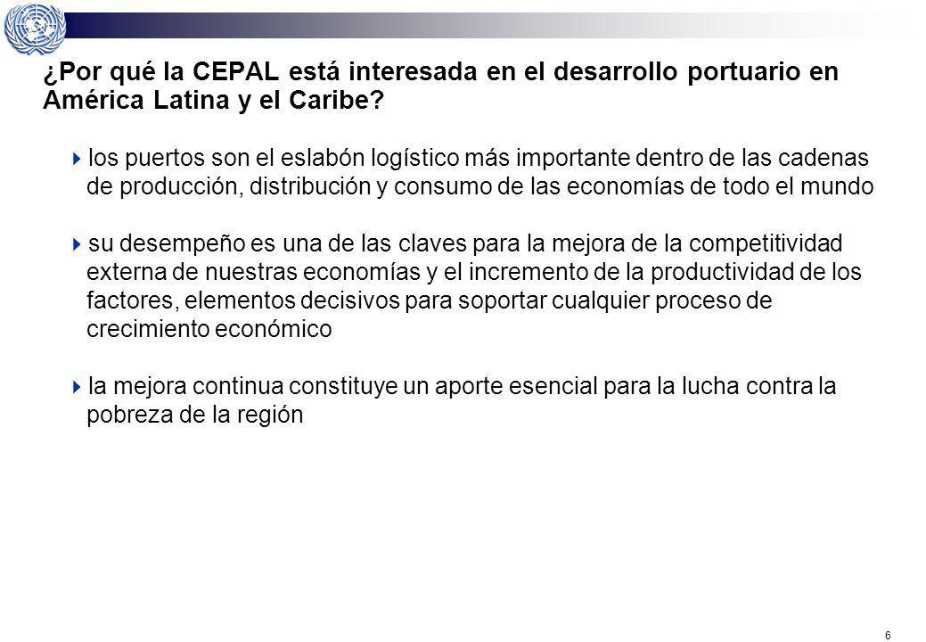 ¿Por qué la CEPAL está interesada en el desarrollo portuario en América Latina y el Caribe