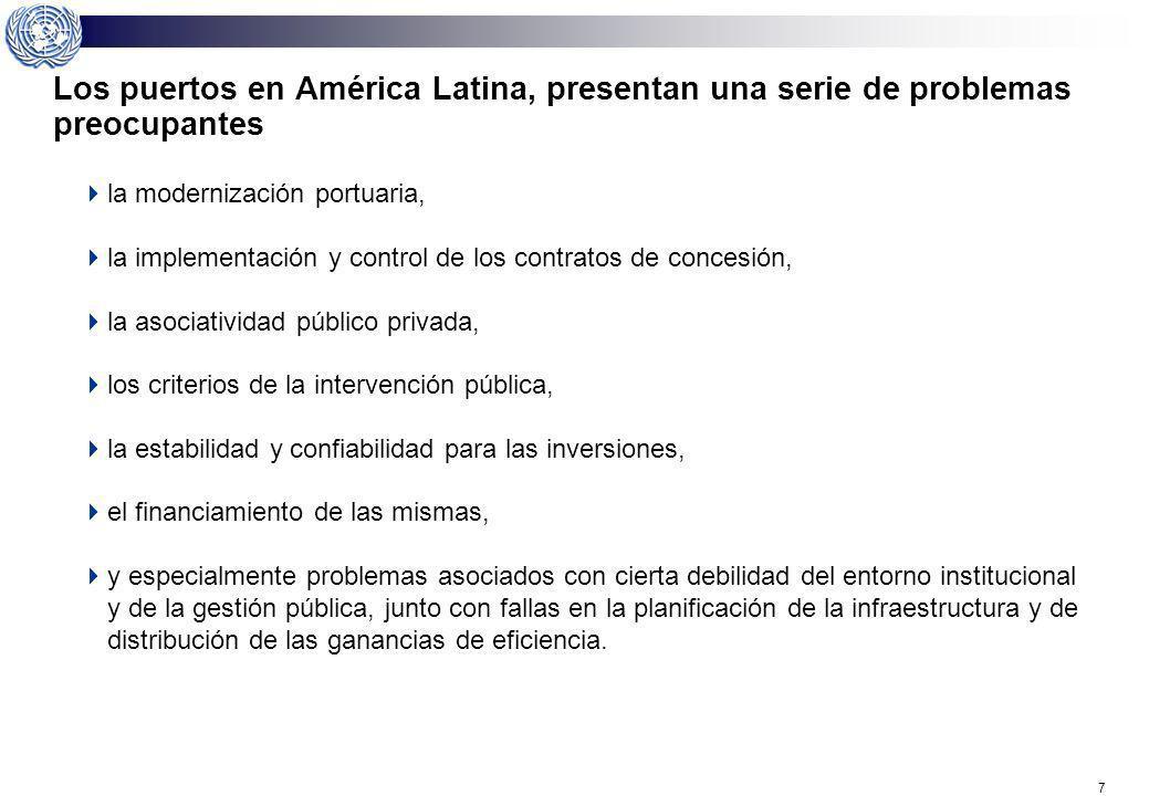 Los puertos en América Latina, presentan una serie de problemas preocupantes