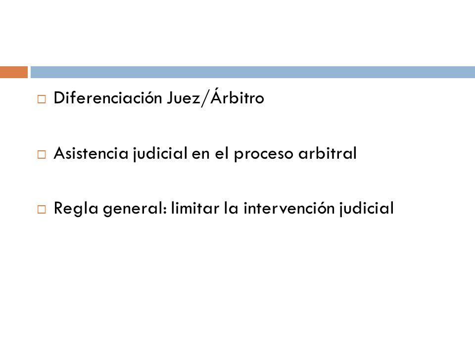 Diferenciación Juez/Árbitro