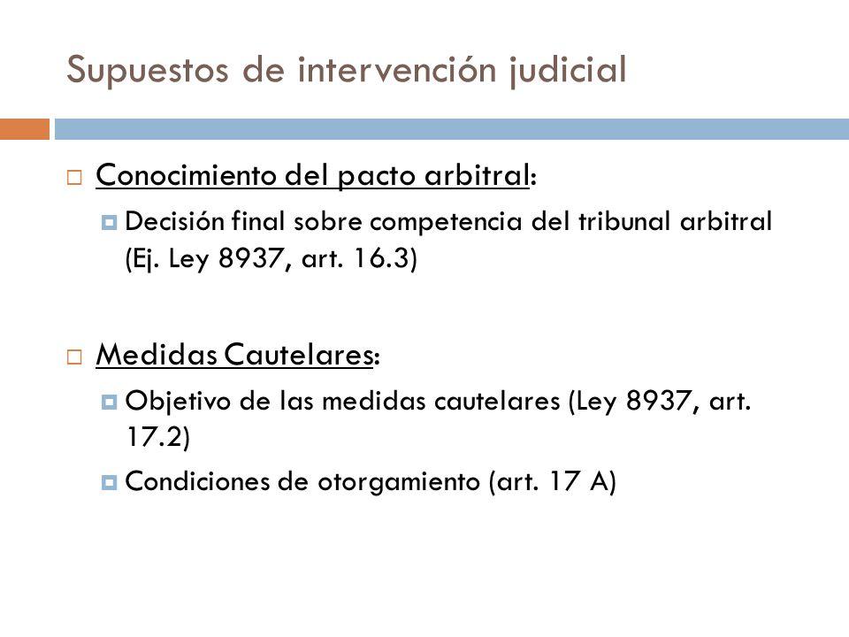 Supuestos de intervención judicial