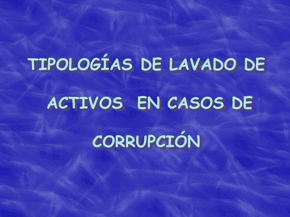 TIPOLOGÍAS DE LAVADO DE