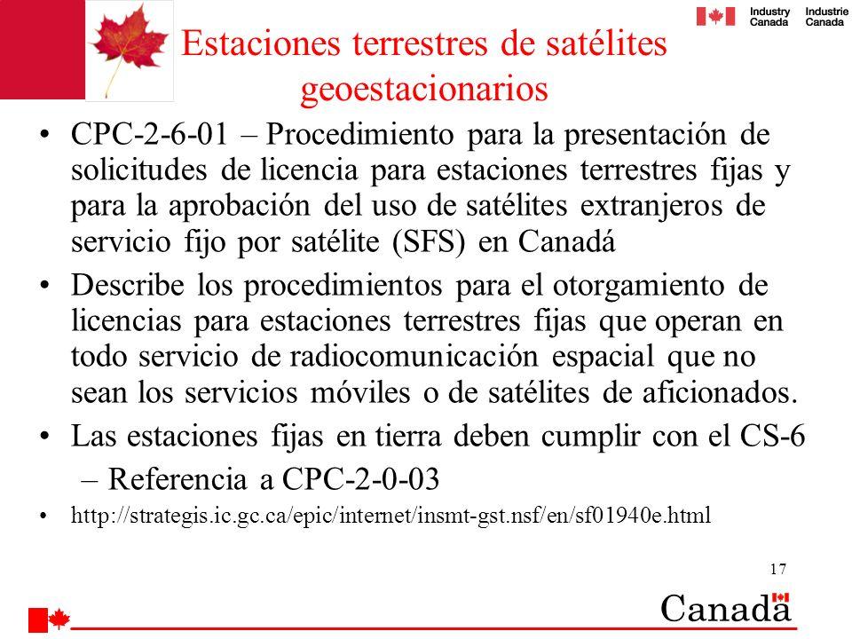 Estaciones terrestres de satélites geoestacionarios