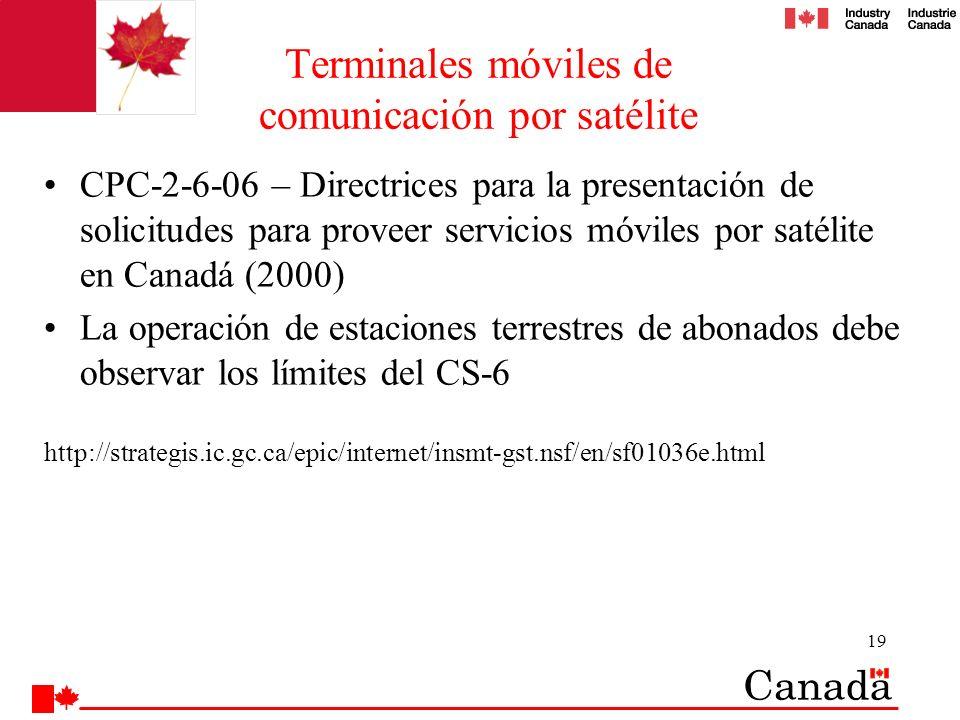 Terminales móviles de comunicación por satélite