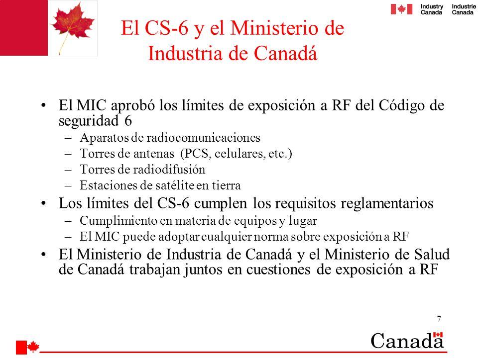 El CS-6 y el Ministerio de Industria de Canadá