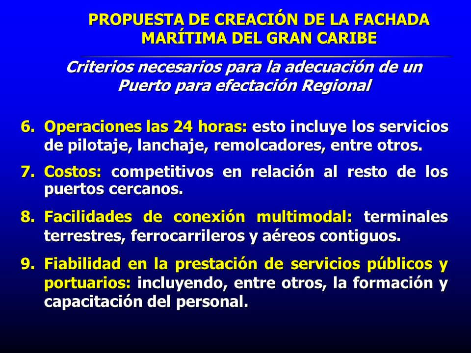 PROPUESTA DE CREACIÓN DE LA FACHADA MARÍTIMA DEL GRAN CARIBE