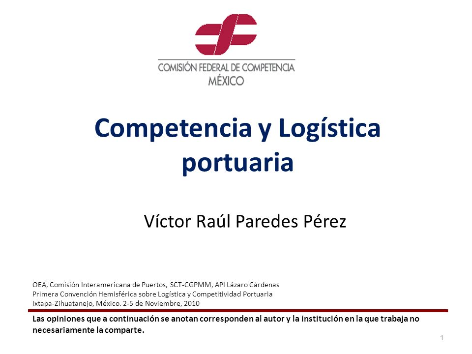 Competencia y Logística portuaria