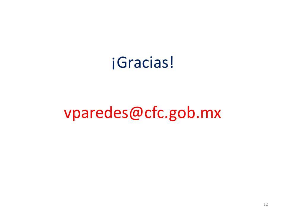 ¡Gracias! vparedes@cfc.gob.mx