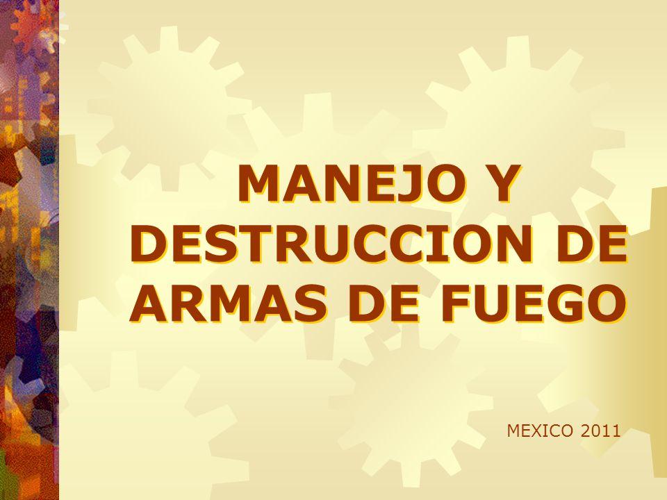 MANEJO Y DESTRUCCION DE ARMAS DE FUEGO
