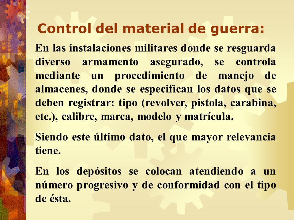 Control del material de guerra: