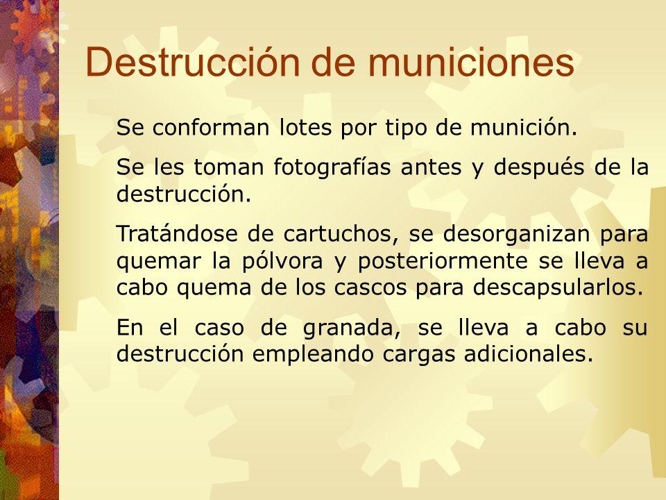 Destrucción de municiones