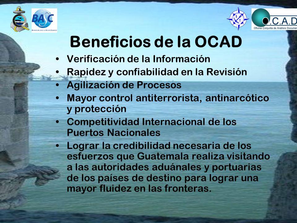Beneficios de la OCAD Verificación de la Información