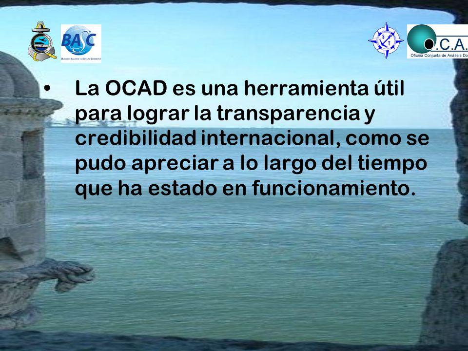 La OCAD es una herramienta útil para lograr la transparencia y credibilidad internacional, como se pudo apreciar a lo largo del tiempo que ha estado en funcionamiento.