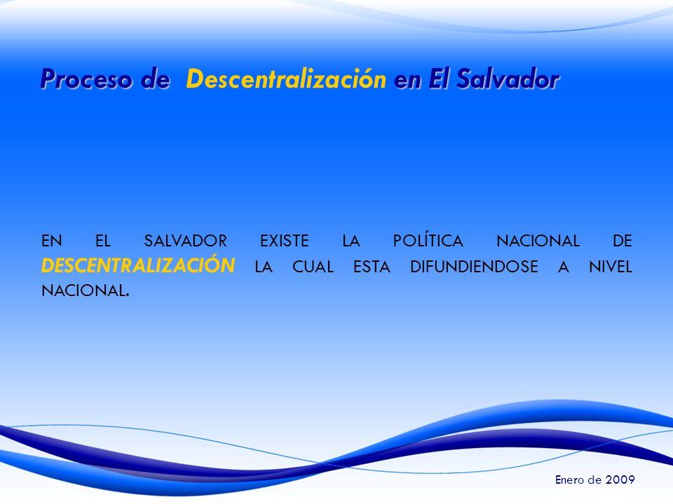 Proceso de Descentralización en El Salvador