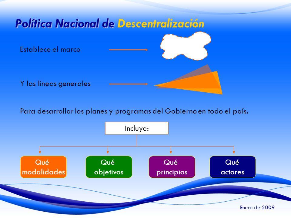 Política Nacional de Descentralización