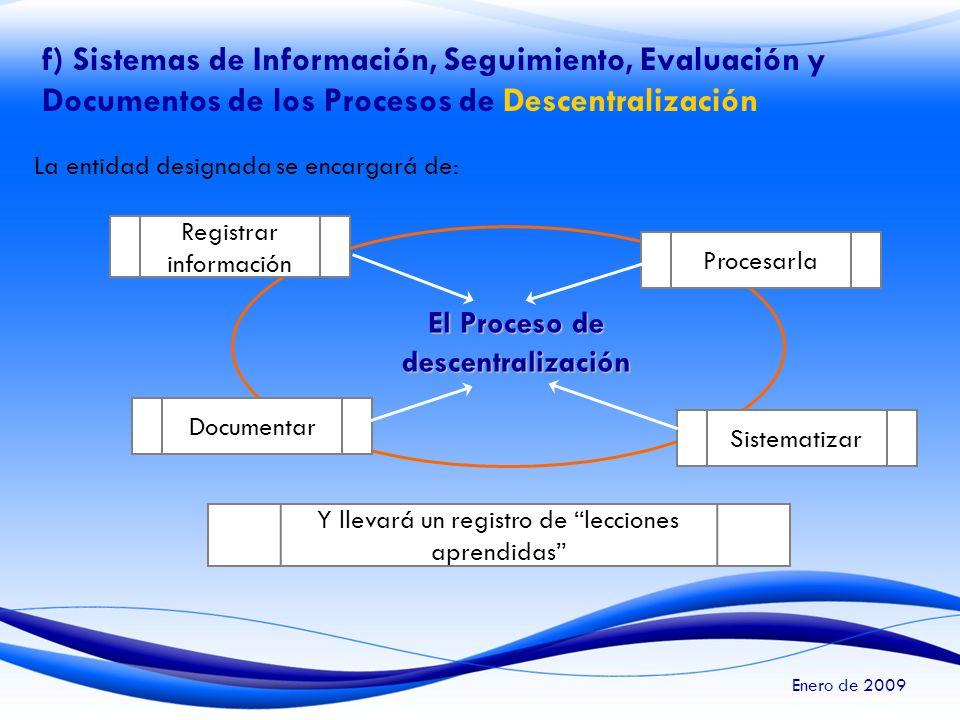 El Proceso de descentralización