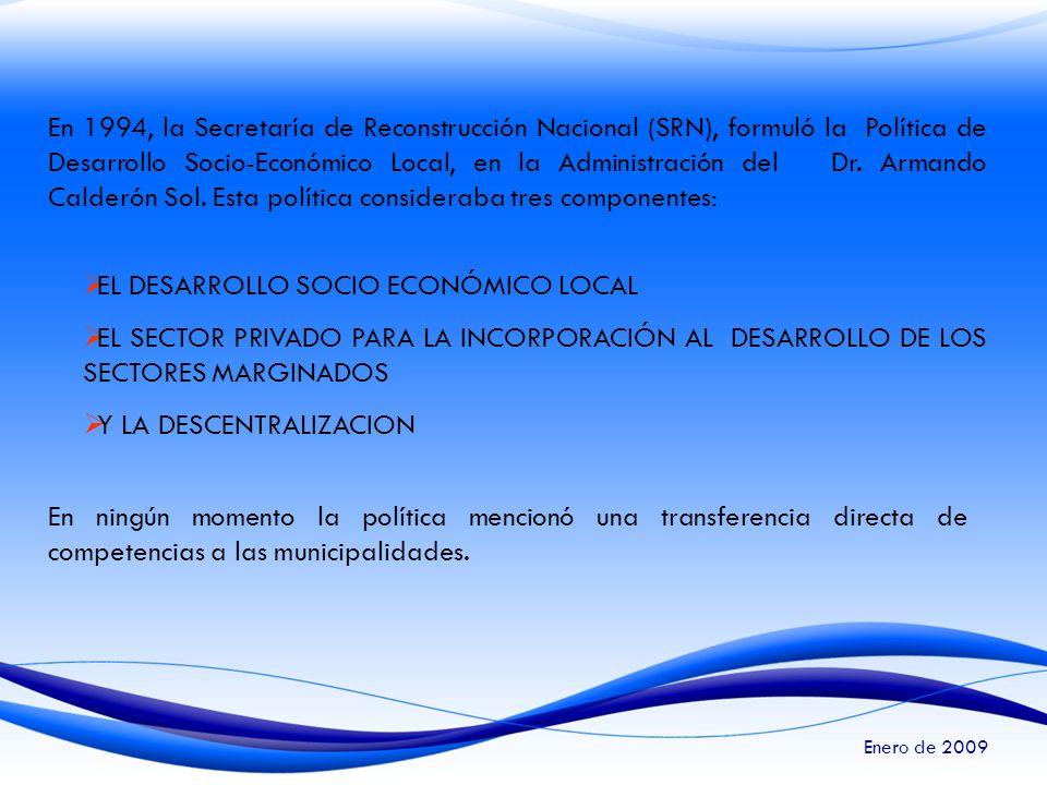 EL DESARROLLO SOCIO ECONÓMICO LOCAL