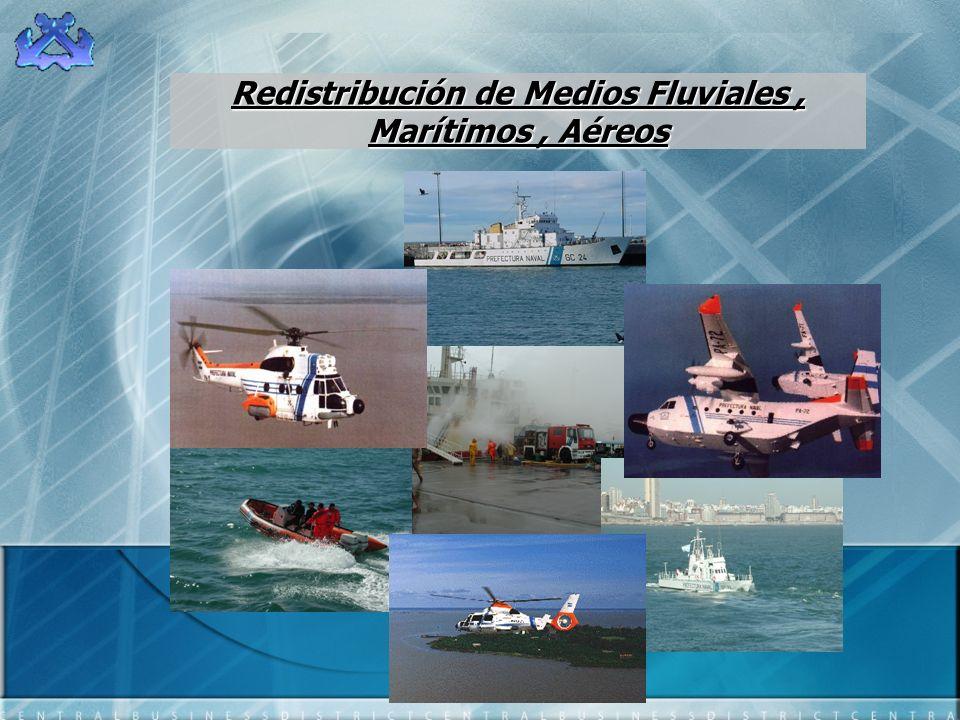Redistribución de Medios Fluviales , Marítimos , Aéreos
