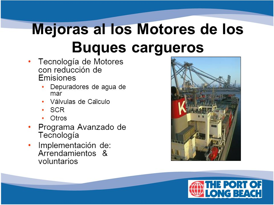 Mejoras al los Motores de los Buques cargueros