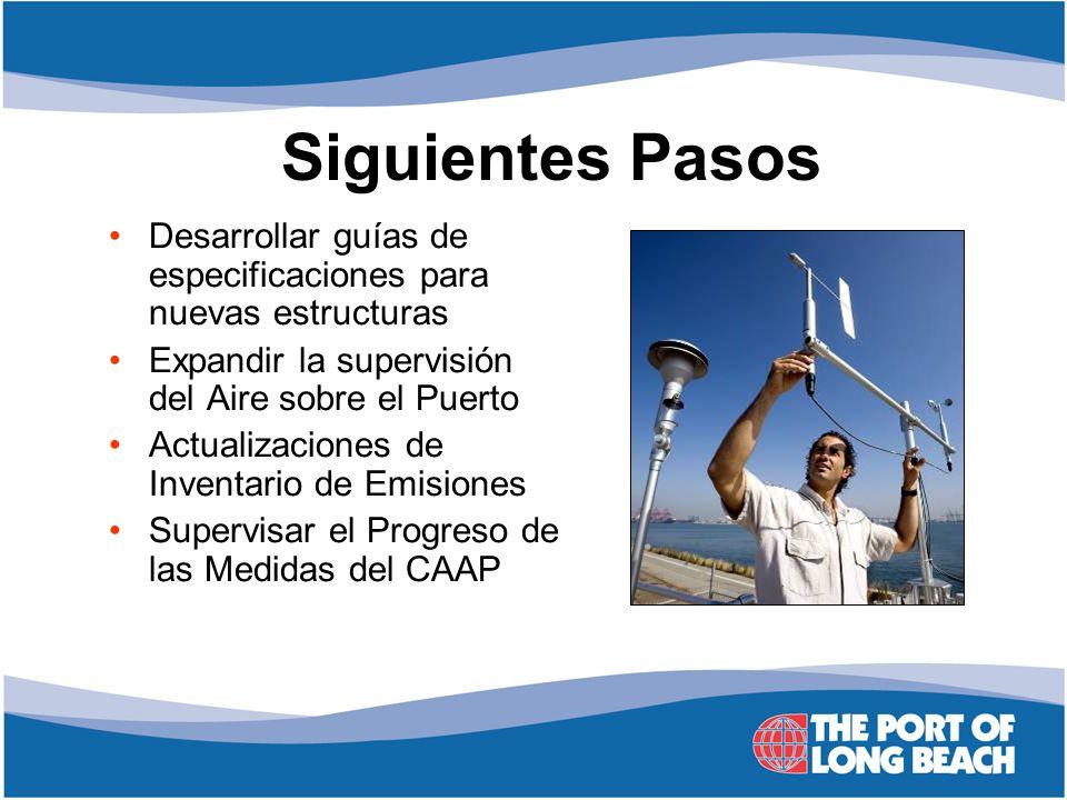 Siguientes Pasos Desarrollar guías de especificaciones para nuevas estructuras. Expandir la supervisión del Aire sobre el Puerto.
