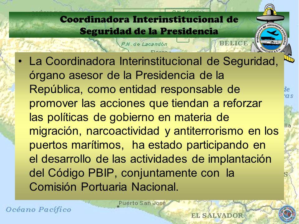 Coordinadora Interinstitucional de Seguridad de la Presidencia